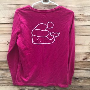 Vineyard Vines | Pink pocket long sleeve top Small